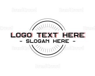 Wordmark - Black Red wordmark logo design