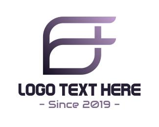 Stroke - Modern F Stroke logo design