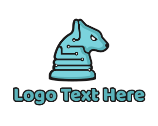 Electronics - Electronic Tech Hound Animal logo design