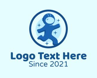 Space - Round Space Astronaut logo design