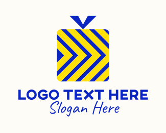 Shipment - Blue Yellow Gift Delivery logo design