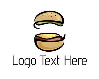 Sandwich - Beef Burger logo design