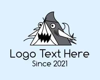 Cartoon - Cartoon Shark Tent logo design