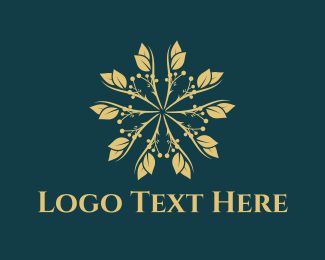 Luxury - Golden Flower logo design