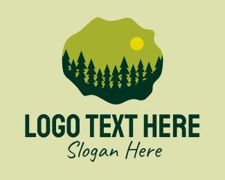Conifer - Rustic Pine Forest  logo design