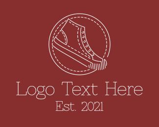 Runner - Retro Sneaker Shoes logo design