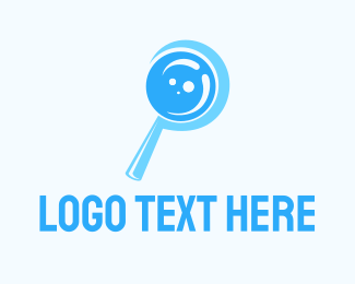 Investigation - Blue Magnifying Glass logo design