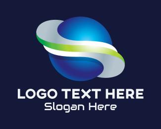 Galactic - 3D Global Sphere logo design