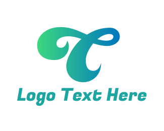 """Curly Letter T"" by eightyLOGOS"