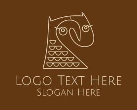 Intelligent - Abstract Owl Bird Art logo design