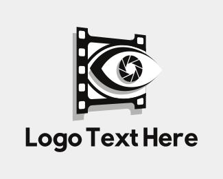 Filmstrip - Eye Shutter logo design