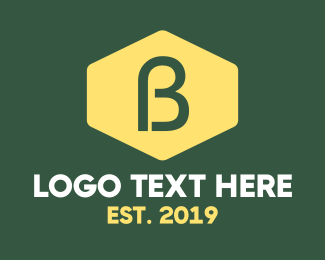 Badge - Yellow B Badge logo design