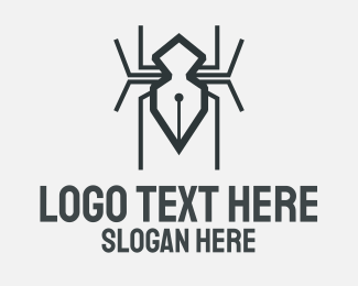 Spider - Black Spider Pen logo design
