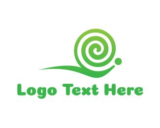 Slow - Snail Twirl Gaming logo design