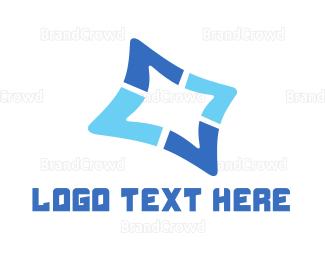 Shadow - Blue Star logo design