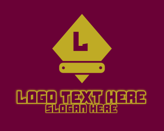Glow - Yellow Glowing Gaming Letter logo design