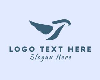Bird Feed - Charity Blue Bird logo design