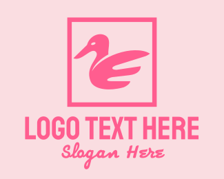 White Swan - Pink Goose Beauty  logo design