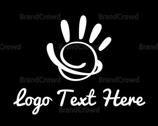 Diy - Black & White Hand Paint logo design
