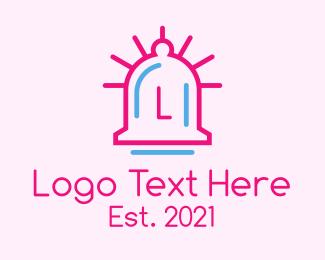 Ringing - Minimalist Bell Letter logo design