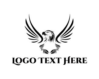 Monochrome - Black Eagle logo design