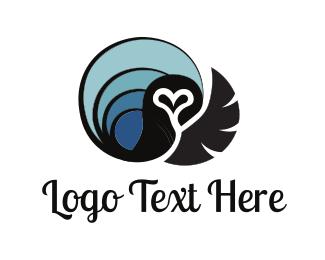Bird Of Prey - Black Owl logo design
