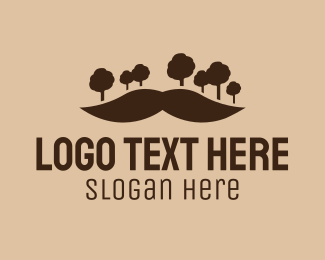 Dude - Mustache Trees  logo design