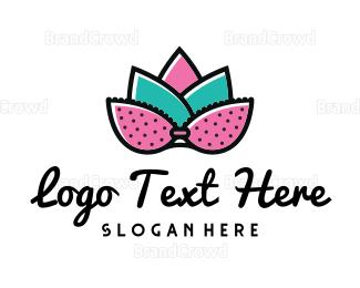 Breast - Lotus Bra logo design