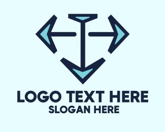Leadership - Compass Diamond logo design