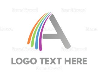 Rainbow - Rainbow A logo design