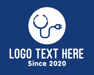Medical Consultation - Medical Stethoscope Plug logo design