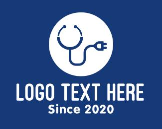Plug - Medical Stethoscope Plug logo design