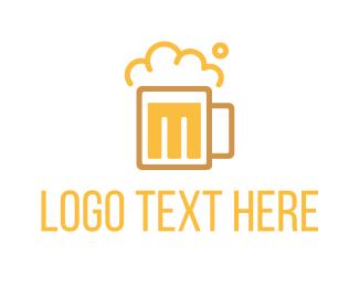 Pub - Beer M logo design