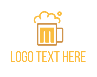 Cider - Beer M logo design