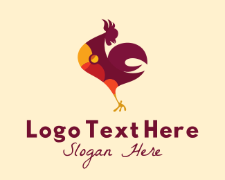 Chicken Delivery - Rooster Farm Animal  logo design