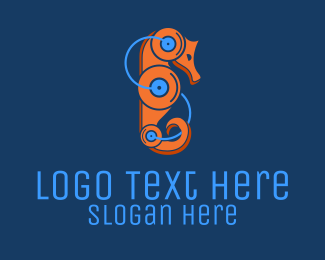 Robotics - Seahorse Robot logo design