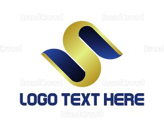 Symphony - Golden Letter S logo design