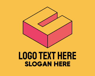 Pop Art - 3D Pixel Letter U logo design