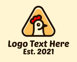 Chicken Nugget - Chicken Triangle Restaurant logo design