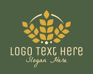 Golden - Wheat Golden Bakery logo design