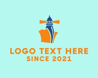 Office Supplies - File Lighthouse logo design