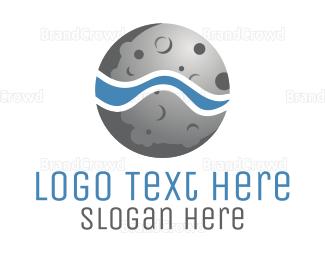 Satellite - Moon Water logo design