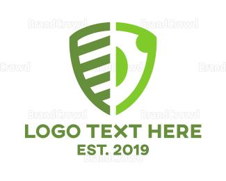 Accountant - Green Abstract Shield logo design