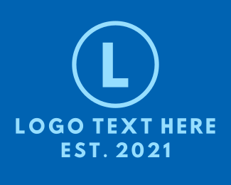 Electronic Store - Blue Circle Lettermark logo design