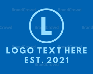 Consulting - Blue Circle Lettermark logo design