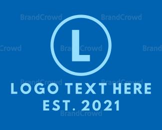 Dry Cleaner - Blue Circle Lettermark logo design