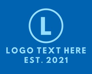 Newspaper - Blue Circle Lettermark logo design