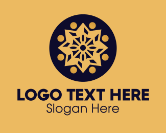 Festive - Golden Star Mandala logo design