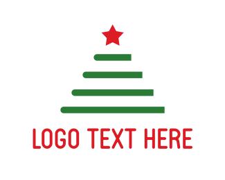 Winter - Christmas Tree logo design