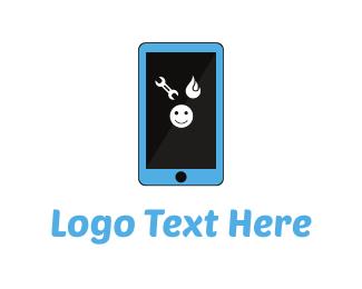Telephone - Smartphone Repair logo design